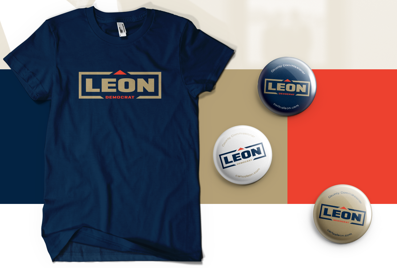 carlos leon t-shirt and buttons