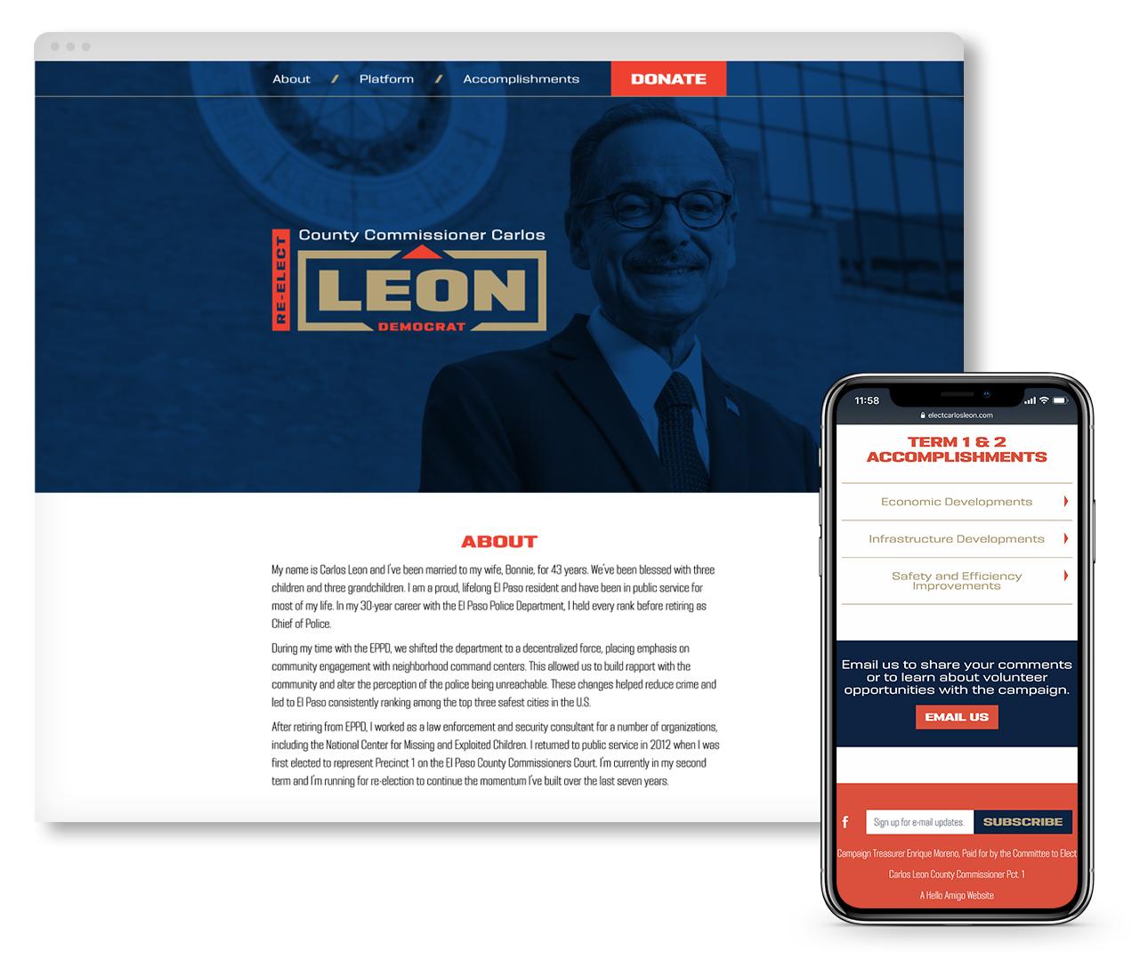 Carlos Leon Website