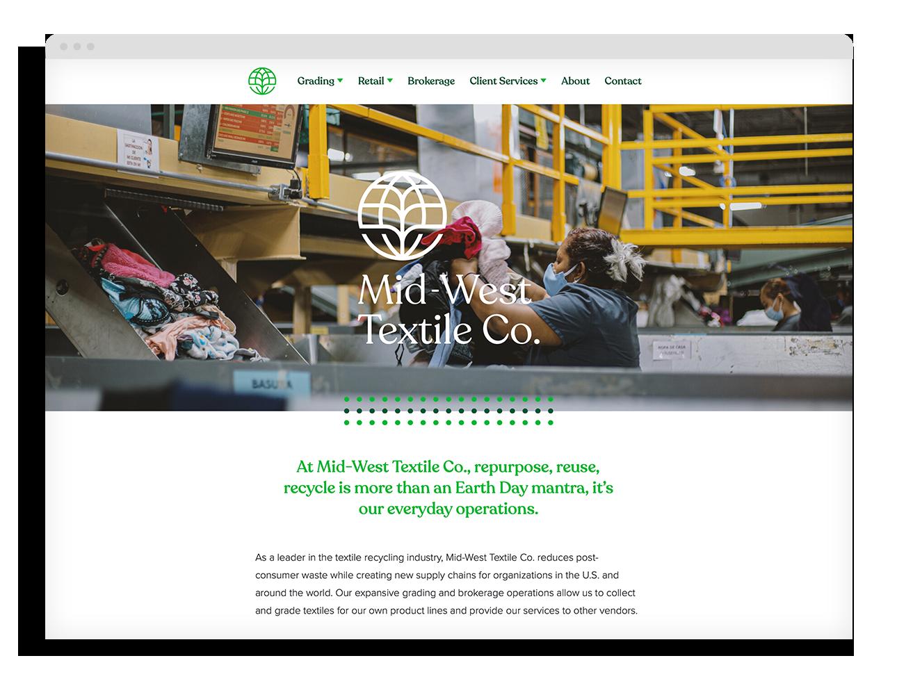 Mid-West Textile Co. Website
